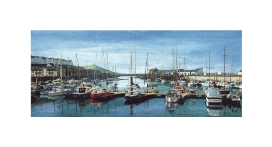 Aberystwyth Marina - Alan Percy Walker - Watercolour Painting