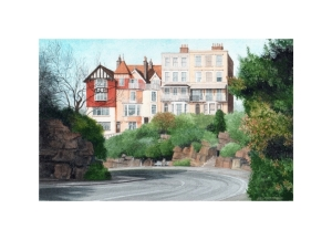Albion Hill, Ramsgate, Kent, Watercolour Painting, Alan Percy Walker