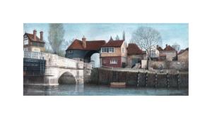 Barbican, Sandwich, Kent, Watercolour Painting, Alan Percy Walker