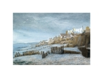 Borth in 1953 - Alan Percy Walker - Limited Edition Print of a Watercolour Painting