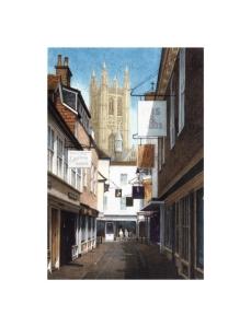 Butcher's Lane, Canterbury, Kent, Watercolour Painting, Alan Percy Walker