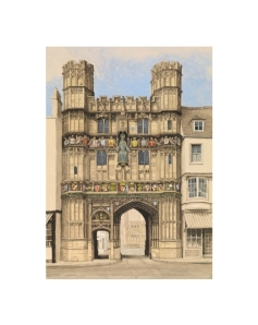 Canterbury Cathedral Christ Church Gate, Watercolour Painting, Alan Percy Walker