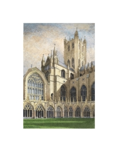 Canterbury Cathedral Cloisters, Kent, Watercolour Painting, Alan Percy Walker