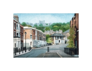 Castle Street, Dover, Kent, Watercolour Painting, Alan Percy Walker