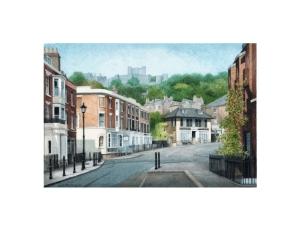 Castle Street, Dover, Kent, Watercolour Painting, Alan Percy Walker