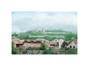 Dover Castle from the West, Watercolour Painting, Alan Percy Walker