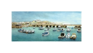 Folkestone Harbour I, Kent, Watercolour Painting, Alan Percy Walker