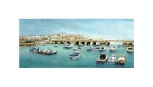 Folkestone Harbour I, Kent, Watercolour Painting, Alan Percy Walker