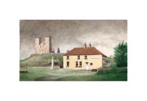 Reculver, Kent, Watercolour Painting, Alan Percy Walker