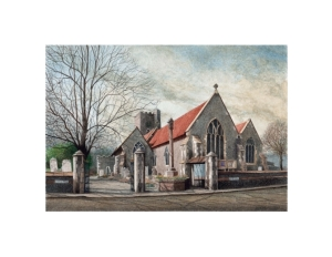 St Peter's Church, Broadstairs, Kent, Watercolour Painting, Alan Percy Walker