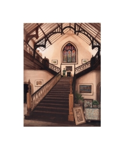Staircase at Plas Glyn-y-Weddw  -  © Alan Percy Walker