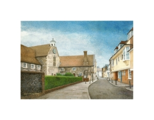 Stour Street, Canterbury, Watercolour Painting, Alan Percy Walker