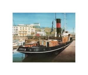 The Cervia, Ramsgate Royal Harbour, Kent, Watercolour Painting, Alan Percy Walker