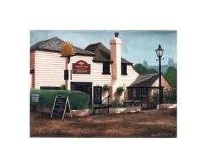 The Rising Sun, Kingsdown, Kent, Watercolour Painting, Alan Percy Walker