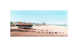 The Sea Duck, Walmer, Deal, Kent, Watercolour Painting, Alan Percy Walker
