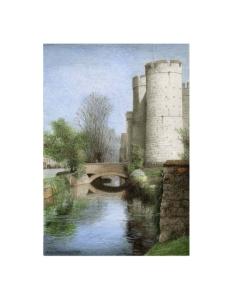 Westgate, Canterbury, Kent, Watercolour Painting, Alan Percy Walker