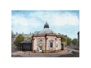 The Harrogate Pump Room Limited Edition Print Watercolour Painting Alan Percy Walker