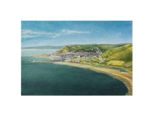 Aberystwyth from the SouthWatercolour Painting - Alan Percy Walker