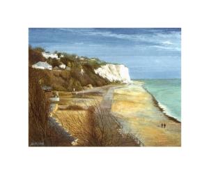 St. Margaret's Bay, Kent, Watercolour Painting, Alan Percy Walker