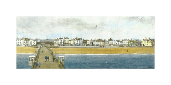 Deal Pier Kent Watercolour Painting Alan Percy Walker